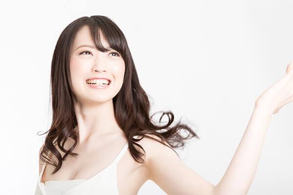 歯を白くして形をきれいに整える方法です